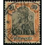 Tysk post i Kina 20 stämplad