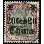 Tysk post i Kina 32 stämplad