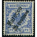 Tysk post i Marocko 4 stämplad
