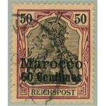 Tysk post i Marocko 14 stämplad