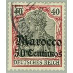 Tysk post i Marocko 27 stämplad
