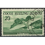 Cocos Keeling Islands 6 stämplad