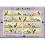Gibraltar 619-622 stämplat miniark
