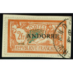 Franska Andorra 19 stämplad