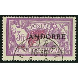 Franska Andorra 20 stämplad
