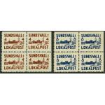 Sundsvall lokalpost 1-2 B/C/D ** 4-block