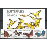 Uganda 407-410 + block 47 **