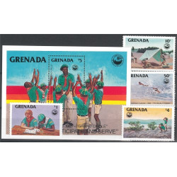 Grenada 1408-1411 + block 145 **