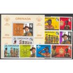 Grenada 488-495 + block 26 **