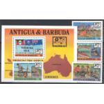 Barbuda 1076-1079 + block 137 **