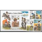 Turks & Caicos 579-582 + block 36 **