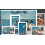 Turks & Caicos 806-809 + block 71 **