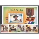 Uganda 338-341 + block 36 **