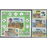 Samoa 481-484 + block 28 **