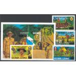 Sierra Leone 822-825 + block 32 **