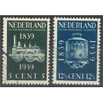 Nederländerna 334-335 stämplade