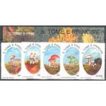 Sao Tome e Principe 1392-1396 + block 296-297 **
