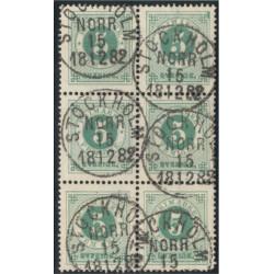 Sverige 30e 6-block STOCKHOLM NORR 15.12.1882