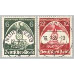 Tyska Riket 586-587 stämplade