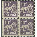 Sverige 145C ** 4-block
