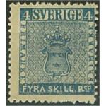 Sverige 4E4 * med vattenmärke