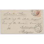Sverige 20 öre till Belgien från Halmstad 1875