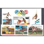 Sierra Leone 827-829 + block 33 **