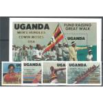 Uganda 440-443 + block 52 **