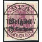 Tysk post i Belgien 6 stämplad