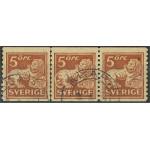 Sverige 142Acc stämplat 3-strip