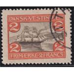 Danska Västindien 39 stämplad