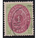 Danska Västindien 5g stämplad
