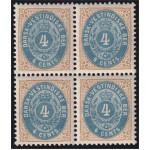 Danska Västindien 16a ** 4-block