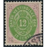 Danska Västindien 11b stämplad