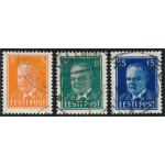 Estland 156-158 stämplade