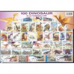 100 olika dinosaurier