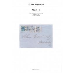 12 öre Vapentyp plåt 1-4