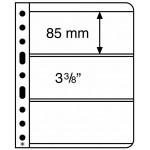 Leuchtturm Vario blad 3S svarta 3 fickor, 5-pack