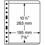 Leuchtturm Vario blad 1S svarta 1 ficka, 5-pack