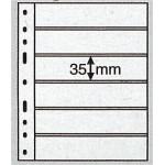 Leuchtturm Optima blad 6S svarta 6 fickor, 10-pack