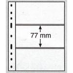 Leuchtturm Optima blad 3S svarta 3 fickor, 10-pack