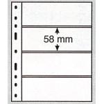 Leuchtturm Optima blad 4S svarta 4 fickor, 10-pack