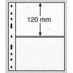 Leuchtturm Optima blad 2S svarta 2 fickor, 10-pack
