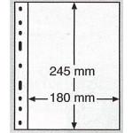 Leuchtturm Optima blad 1S svarta 1 ficka, 10-pack